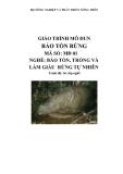 Giáo trình Bảo tồn rừng - MĐ01: Bảo tồn, trồng và làm giàu rừng tự nhiên