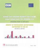 Ebook Khảo sát doanh nghiệp Việt Nam xuất khẩu vào thị trường EU: Phần 2 - NXB Tài chính