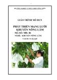 Giáo trình Phát triển mạng lưới khuyến nông lâm - MĐ06: Khuyến nông lâm