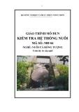 Giáo trình Kiểm tra hệ thống nuôi - MĐ04: Nuôi cá bống tượng