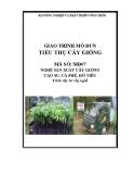 Giáo trình Tiêu thụ cây giống - MĐ07: Nghề sản xuất cây giống cao su, cà phê, hồ tiêu