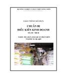 Giáo trình Chuẩn bị điều kiện kinh doanh - MĐ02: Mua bán, bảo quản phân bón