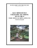 Giáo trình Chăm sóc sầu riêng - MĐ04: Trồng sầu riêng, măng cụt