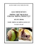 Giáo trình Phòng trừ dịch hại cho sầu riêng, măng cụt - MĐ06: Trồng sầu riêng, măng cụt