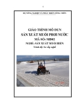 Giáo trình Sản xuất muối phơi nước - MĐ02: Sản xuất muối biển
