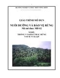 Giáo trình Nuôi dưỡng và bảo vệ rừng - MĐ02: Trồng và khai thác rừng