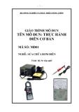 Giáo trình Thực hành điện cơ bản - MĐ01: Sửa chữa bơm điện