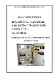 Giáo trình Vận hành, bảo dưỡng tủ điện điều khiển cống - MĐ06: Quản lý công trình thủy nông