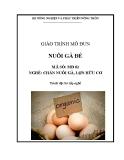 Giáo trình Nuôi gà đẻ - MĐ02: Chăn nuôi gà, lợn hữu cơ