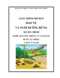 Giáo trình Bảo vệ và nuôi dưỡng rừng - MĐ05: Bảo tồn, trồng và làm giàu rừng tự nhiên