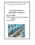 Giáo trình Chế biến cá phi lê - MĐ04: Chế biến cá tra, cá ba sa đông lạnh xuất khẩu