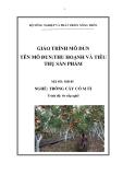 Giáo trình Thu hoạch và tiêu thụ sản phẩm - MĐ05: Trồng cây có múi
