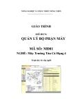 Giáo trình Quản lý bộ phận máy - MĐ01: Máy trưởng tàu cá hạng 4