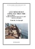 Giáo trình Công tác thuỷ thủ - MĐ01: Đánh bắt hải sản xa bờ bằng lưới kéo