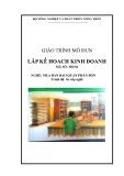 Giáo trình Lập kế hoạch kinh doanh - MĐ01: Mua bán, bảo quản phân bón