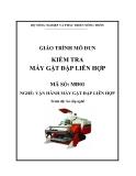 Giáo trình Kiểm tra máy gặt đập liên hợp - MĐ01: Vận hành máy gặt đập liên hợp