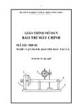 Giáo trình Bảo trì máy chính - MĐ02: Vận hành, bảo trì máy tàu cá