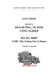 Giáo trình Bảo dưỡng, vệ sinh công nghiệp - MĐ07: Máy trưởng tàu cá hạng 4