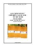 Giáo trình Chế biến cao su SVR từ mủ nước - MĐ01: Sơ chế mủ cao su