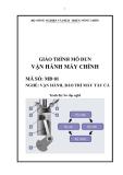Giáo trình Vận hành máy chính - MĐ01: Vận hành, bảo trì máy tàu cá