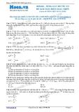 Chuyên đề LTĐH môn Vật lý: Dùng giản đồ vecto để giải bài toán điện xoay chiều (Đề 1)
