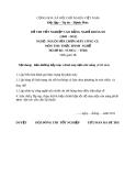 Đề thi thực hành nghề Nguội sửa chữa máy công cụ năm 2012 (Mã đề TH26)