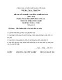 Đề thi thực hành nghề Nguội sửa chữa máy công cụ năm 2012 (Mã đề TH41)