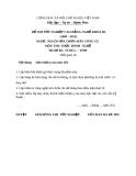 Đề thi thực hành nghề Nguội sửa chữa máy công cụ năm 2012 (Mã đề TH39)
