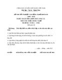 Đề thi thực hành nghề Nguội sửa chữa máy công cụ năm 2012 (Mã đề TH43)