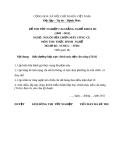 Đề thi thực hành nghề Nguội sửa chữa máy công cụ năm 2012 (Mã đề TH34)