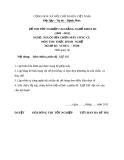 Đề thi thực hành nghề Nguội sửa chữa máy công cụ năm 2012 (Mã đề TH10)