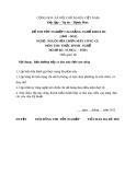 Đề thi thực hành nghề Nguội sửa chữa máy công cụ năm 2012 (Mã đề TH23)