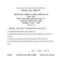 Đề thi thực hành nghề Nguội sửa chữa máy công cụ năm 2012 (Mã đề TH08)