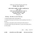 Đề thi thực hành nghề Nguội sửa chữa máy công cụ năm 2012 (Mã đề TH09)