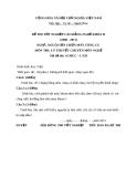 Đề thi Nguội sửa chữa máy công cụ - Tốt nghiệp nghề khóa III (Mã đề LT29)