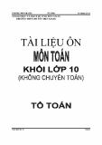 Tài liệu ôn môn Toán khối lớp 10 (không chuyên Toán) - Nguyễn Tuấn Ngọc