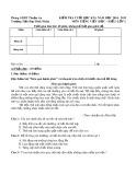 Đề kiểm tra môn Tiếng Việt lớp 2 cuối học kì I - TH Bình Nhâm