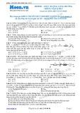 Chuyên đề LTĐH môn Vật lý: Hiện tượng cộng hưởng trong mạch RLC