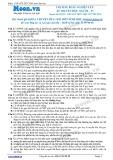 Chuyên đề LTĐH môn Sinh học: Phương pháp nghiên cứu di truyền học người (phần 1)