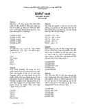 Đề thi Toán Gmat (Đề số 1) - FPT Softwave