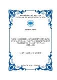 Luận văn thạc sĩ kinh tế: Nâng cao chất lượng dịch vụ tín dụng của ngân hàng TMCP các doanh nghiệp ngoài quốc doanh Việt Nam (VPBank)