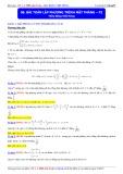 Luyện thi Đại học môn Toán: Bài toán lập phương trình mặt phẳng (Phần 2) - Thầy Đặng Việt Hùng
