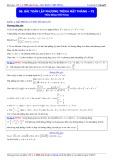 Luyện thi Đại học môn Toán: Bài toán lập phương trình mặt phẳng (Phần 3) - Thầy Đặng Việt Hùng