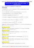Luyện thi Đại học môn Toán: Bài toán lập phương trình mặt phẳng (Phần 1) - Thầy Đặng Việt Hùng