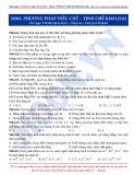 Luyện thi ĐH môn Hóa học 2015: Nâng cao-Phương pháp điều chế-tinh chế kim loại