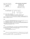 Đề thi chọn học sinh giỏi lớp 9 môn Hóa học - Phòng GD&ĐT Yên Khánh