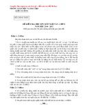 Đề kiểm tra học kỳ I môn Ngữ văn lớp 8 năm 2014-2015 - Phòng GD&ĐT quận Tân Bình