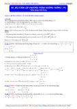 Luyện thi Đại học môn Toán: Bài toán lập phương trình đường thẳng (Phần 2) - Thầy Đặng Việt Hùng