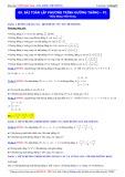 Luyện thi Đại học môn Toán: Bài toán lập phương trình đường thẳng (Phần 1) - Thầy Đặng Việt Hùng