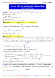 Luyện thi Đại học môn Toán: Bài toán tìm điểm thuộc đường phẳng - Thầy Đặng Việt Hùng